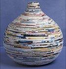 Recyle paper vase