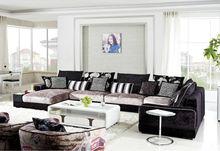 modern laest design fabric wooden l shaped sofa set