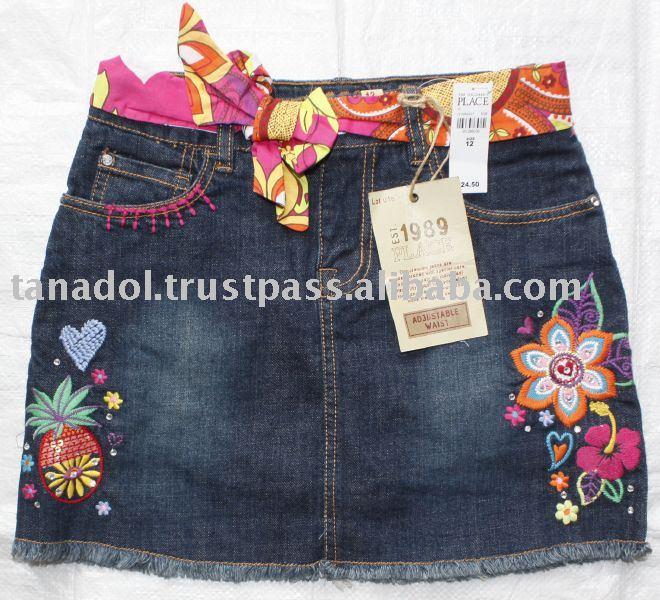 Sell Girls jean skort,children clothing,children wear,kid clothes