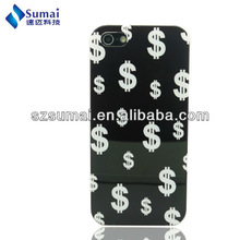 Back cover for iphone 5+ABS mobile phone case+IMD art work+customized logo printing