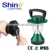 wholesale 12 led cranking dynamo multi-function unique solar charger led lantern