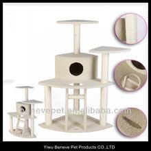 """45"""" BEIGE Cat Tree Condo House Scratcher Pet Furniture"""