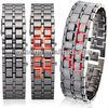 Cheap china products iron samurai lava blue led watch