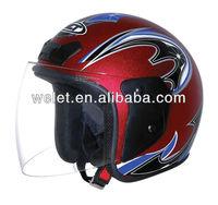half face helmet off road helmet with visor