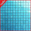 Tiffany azul de mosaico de vidrio, papasfritas azul, c