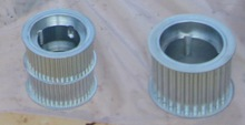 Timing pulleys zinc plated