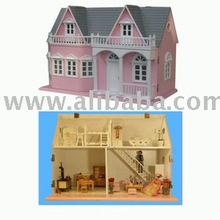 doll house wooden miniature furniture