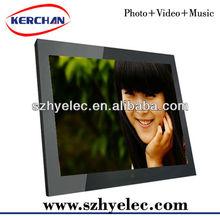 15inch digital photo frame with radio clock