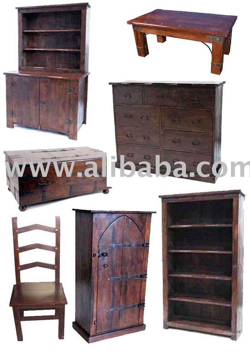 Muebles r sticos muebles de estilo colonial sillas de - Muebles rustico colonial ...