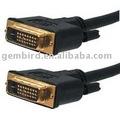 Cabo de vídeo dvi dual link 10ft cabo, ouro- conectores banhados, preto
