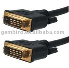 DVI video cable dual link 10ft cable, gold-plated connectors, black