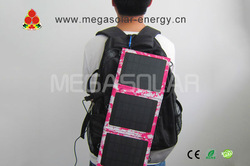 2013 new style and light 7.5W portable solar bag for ipad