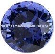 Royal Blue Tanzanite Round Cut