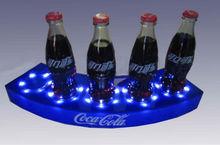 acrylic bottle holder,led bottle base,glorifier, custom plastic drink bottle displays