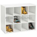 8- par de madera estante del zapato organizador