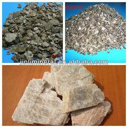 Natural raw vermiculite