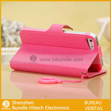 high quality and factory price for iphone 5 folio leather case