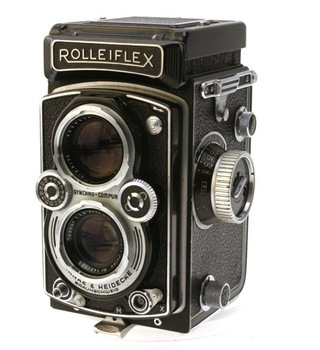 Vintage Rolleiflex TLR Camera With Tessar F/3.5 Lens