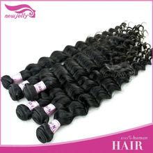 Hop sale cheap raw stylish Malaysian virgin hair loose curl human hair weaving no tangle and no shedding