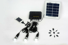 mini portable led solar panel kit for home use