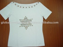 Ladies fashionable high quality garments with hand application