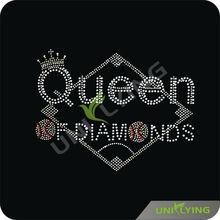 Special design queen of diamonds rhinestone transfer motif