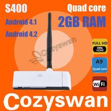 Amazing!!!The First Quad Core Mini PC!Anroid 4.2 RK3188 Cortex A9 Quad Core HDMI Dongle MK809 III laptop notebook