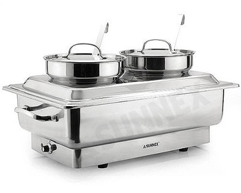 Electric Chafer with Bain Maries