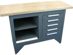 5 Drawer Workbench W/ Wood Top