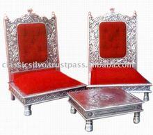 Royal Silver Carved Hukka Bar Furniture (Silver Hukka Bar Furniture from India)