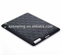 Fashion cover for ipad 3 ipad 4 diamond silicon case back cover
