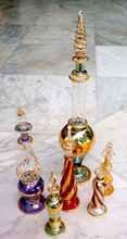 Perfume Bottle Handmade, Mouthblown Pyrex Glass