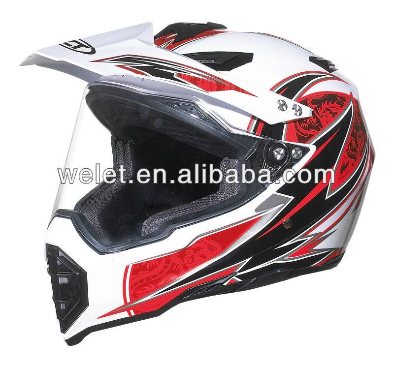 Dirt Bike Helmet wlt-128 New style Black ece open face helmet