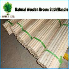 Wooden broom handle for street sweeping