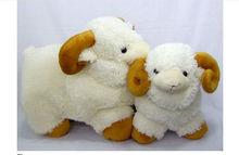 plush stuffed promotional white fat lamb