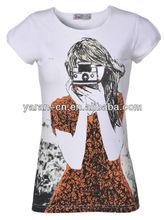 fashion clothing design bamboo t shirt printing custom t shirt design wholesale for woman 2013 summer