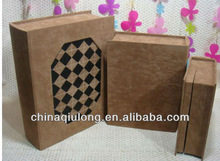 Natural solidwood book packaging gift box