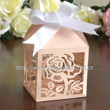 2013 hot sale! laser cut rose wedding box