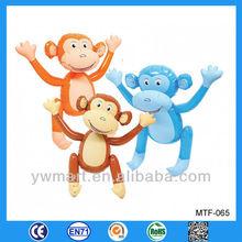 Hot lovely infatable animal toy, PVC inflatable monkey toy animal
