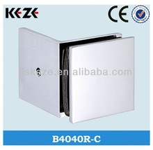 B4040R-C sliding brass shower stainless steel glass holding clips