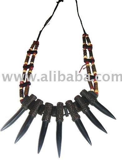 Wild Carabao Water Buffalo Horn Headhunter Necklace