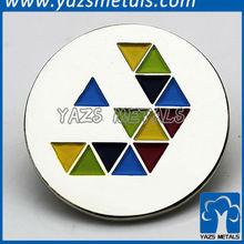 Beautiful design circle lapel pins
