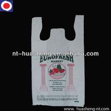 HDPE white printed shopping bag for supermarket