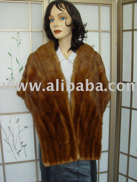 Menta en colores Pastel de la piel de visón de la estola / del abrigo para mujeres Sz grande
