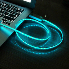 New Design Baby Blue Visible Light USB Sync Data / Charging Cable for Samsung Galaxy S IV / i9500