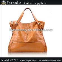 Export Euro Style Woman Fashion Orange Leather Handbag(AW-022)