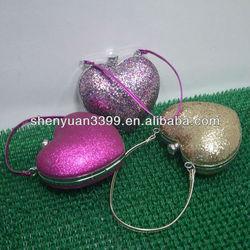 professional beauty box makeup case,heart shape vanity case,deluxe hard metal cosmetic box