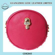 studded rivet side with a skull personality design handbag for women shoulder bag