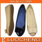 Lady Ballerina Flat Shiny PU Girl Shoe
