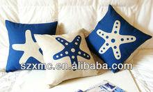 blue balloon starfish sea star customized design oem offer moq cushion